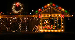 Christmas lights. Beautifully decorated homes with Christmas lights Stock Photography