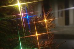 Christmas lights. Lights the flame to the atmosphere of Christmas Royalty Free Stock Photos