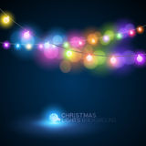 Christmas Lights. Rows of christmas fairy lights Stock Photos