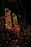 Christmas lights. A very tall Christmas Tree Stock Photos