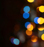 Christmas lights. Defocused pattern of colorful decoration lights (abstract background Stock Photos