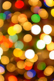 Christmas Lights. Colorful background of out of focus Christmas lights royalty free stock photography