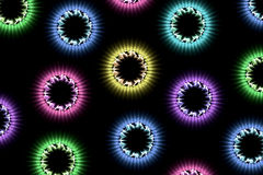 Christmas lights. Beautiful colored fractal renditions resembling christmas lights stock illustration