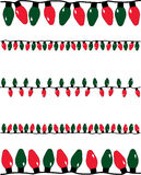 Christmas Lights. A vector illustration of several strands of red and green christmas lights of different sizes Stock Photography