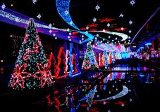 Christmas lights. Christmas decorations in Tokyo, Japan Royalty Free Stock Images