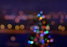 Christmas lights. Abstract circular bokeh background royalty free stock image