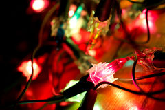 Christmas lights abstraction Royalty Free Stock Photos