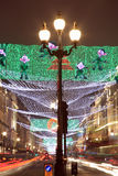 Christmas lights along Regent Street Royalty Free Stock Photography