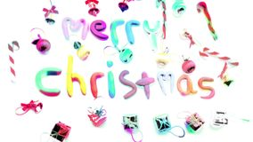 Christmas lights alphabet stock footage