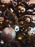 Christmas lights tree decorations stock photos