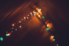 Christmas lights as bokeh  Stock Photos