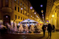 Christmas lights as part of Advent in Zagreb Royalty Free Stock Images