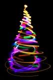 Christmas lights as xmas tree Stock Images