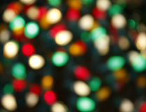 Christmas Lights Background Stock Image