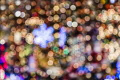 Christmas Lights background blurred Stock Images