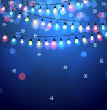 Christmas lights background Royalty Free Stock Photos