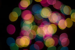 Christmas Lights Background. Colorful out of focus Christmas Lights Background Stock Photos