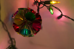 Christmas Lights Background. Colorful out of focus Christmas Lights Background Stock Photography