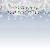 Christmas lights background Stock Photo
