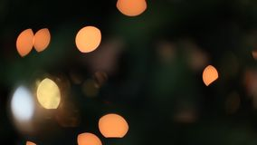 Christmas lights background effect. Intermittent, discontinuous lights effect, Christmas tree background stock video footage