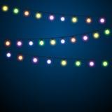 Christmas Lights Background. stock illustration