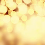 Christmas lights Background. Golden Holiday Abstract Defocused B Royalty Free Stock Photos