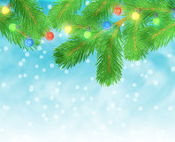 Christmas lights background Royalty Free Stock Images