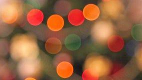 Christmas lights background. Rack focus christmas lights background stock video footage