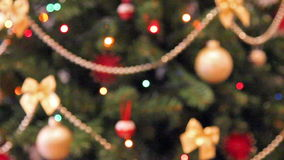 Christmas lights background. Rack focus christmas lights background stock video