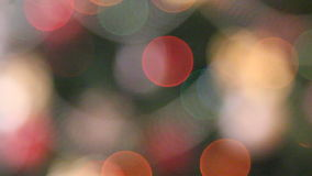Christmas lights background stock footage