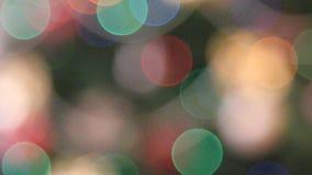 Christmas lights background. Rack focus christmas lights background stock footage