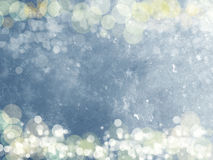 Christmas lights background with snow and snowflakes Royalty Free Stock Image