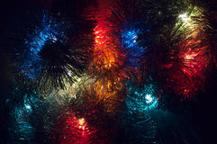 Christmas lights background with various colours Stock Image