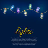 Christmas lights background. Royalty Free Stock Photography