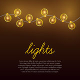 Christmas lights background. Royalty Free Stock Image