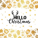 Christmas lights background. Royalty Free Stock Photo