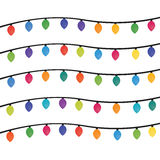 Christmas lights background, Vector by EPS10.  vector illustration