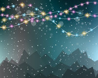 Christmas Lights Background for your seasonal wallpapers, Stock Photography