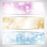 Christmas lights banners Royalty Free Stock Images