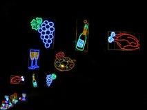 Christmas lights in Barcelona street Stock Photos