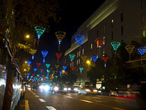 Christmas lights in Barcelona street Stock Photo