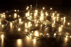 Christmas Lights. On Black Background stock photography