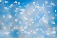 Christmas lights on blue background Royalty Free Stock Photo