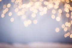 Christmas lights bokeh. Abstract bokeh lights Royalty Free Stock Photos