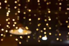 Christmas lights bokeh background Stock Images