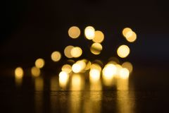 Christmas lights bokeh. Background blur royalty free stock image