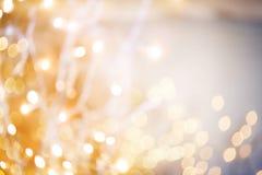 Christmas lights bokeh. Abstract bokeh lights Royalty Free Stock Images
