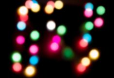 Christmas lights and bokeh Stock Images