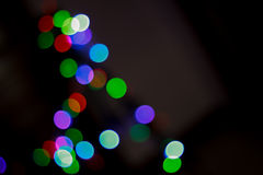 Christmas lights bokeh Stock Images