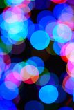 Christmas. Lights bokeh colour blur Royalty Free Stock Image